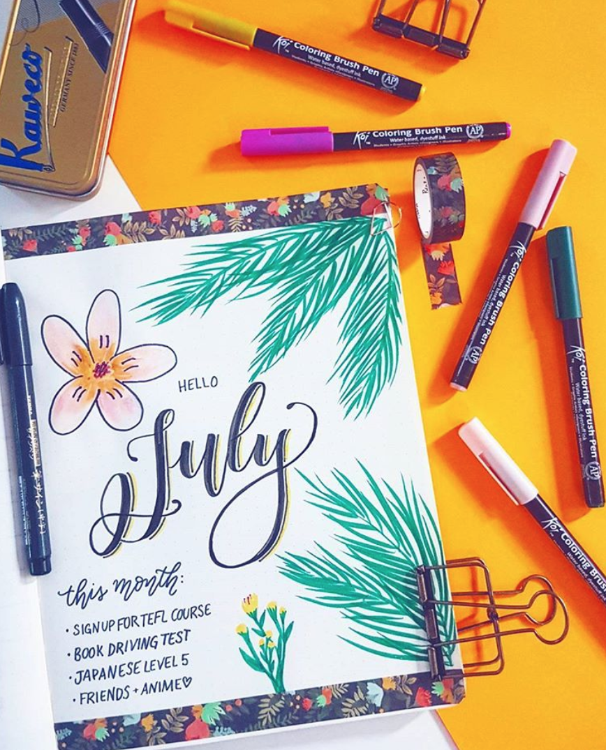 Bullet Journal Monthly Page Ideas