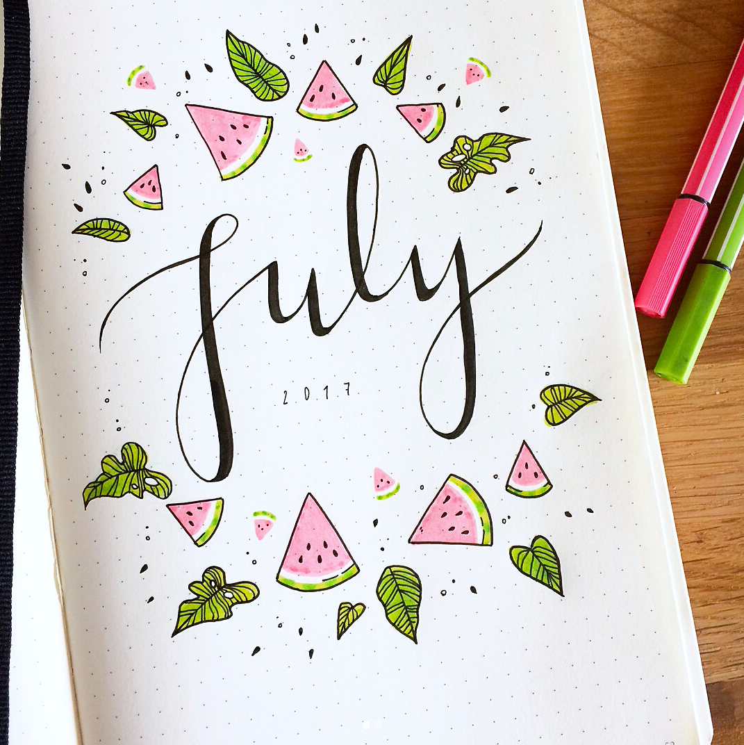 Fun Ways to Decorate your Bullet Journal for July!