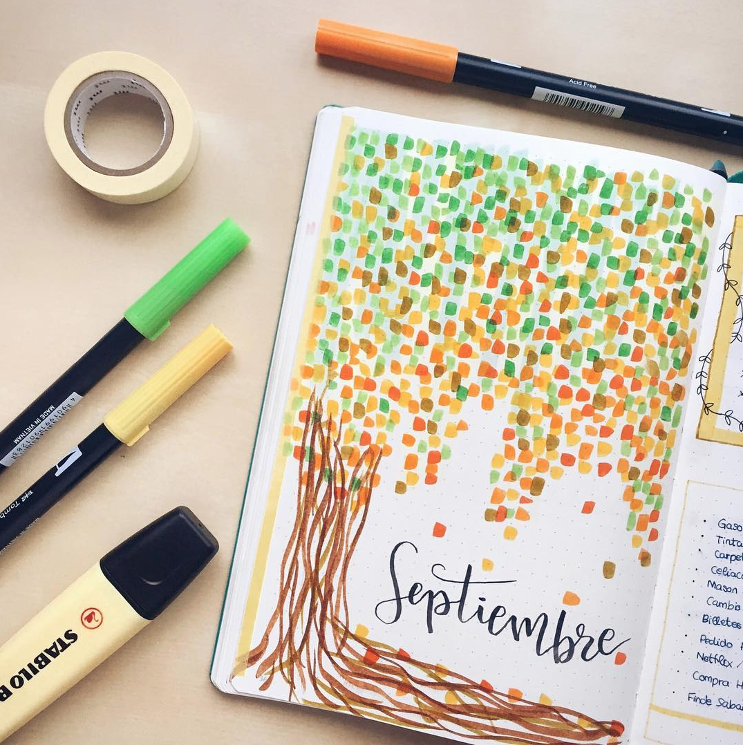 Bullet Journal Cover Pages for September