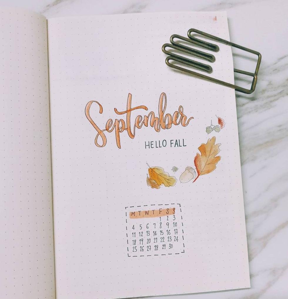 Bullet Journal September Monthly Spreads