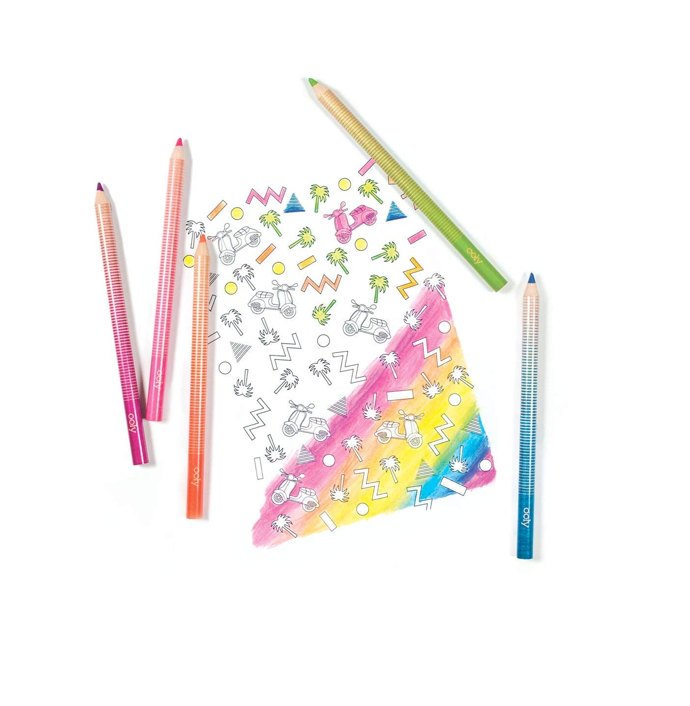 Ooly Jumbo Brights Neon Colored Pencils