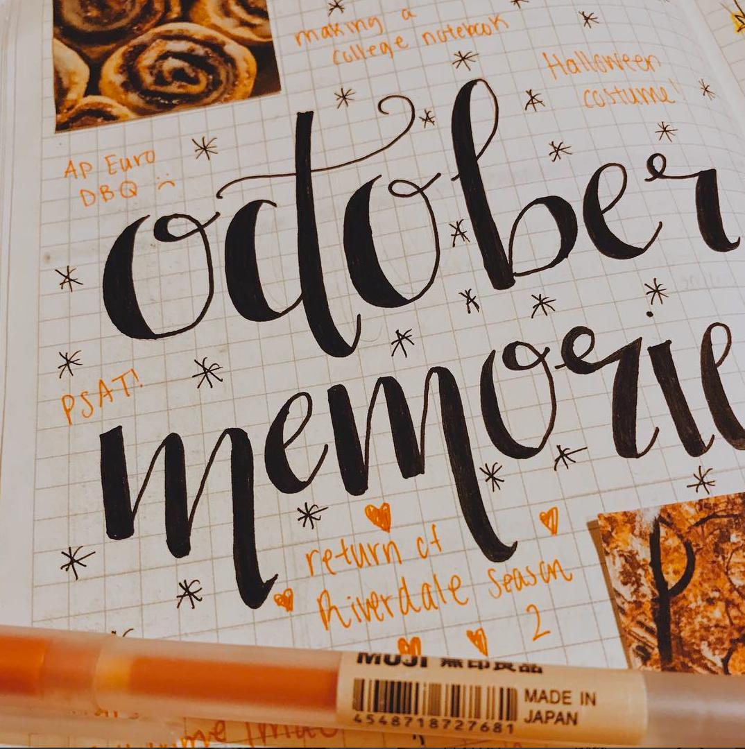 October Memories in a Bullet Journal