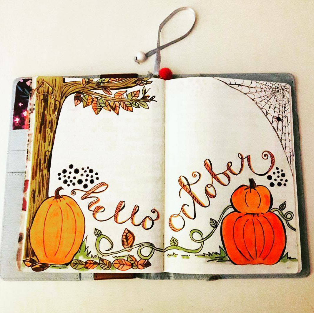 October Intro Page in Bullet Journal