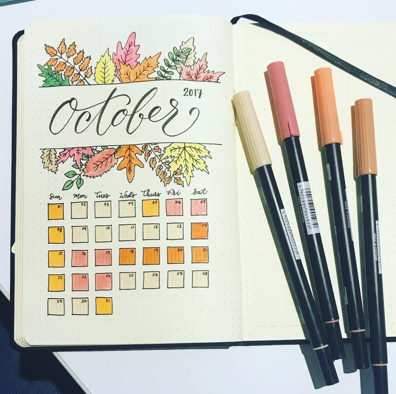 Bullet Journaling for October