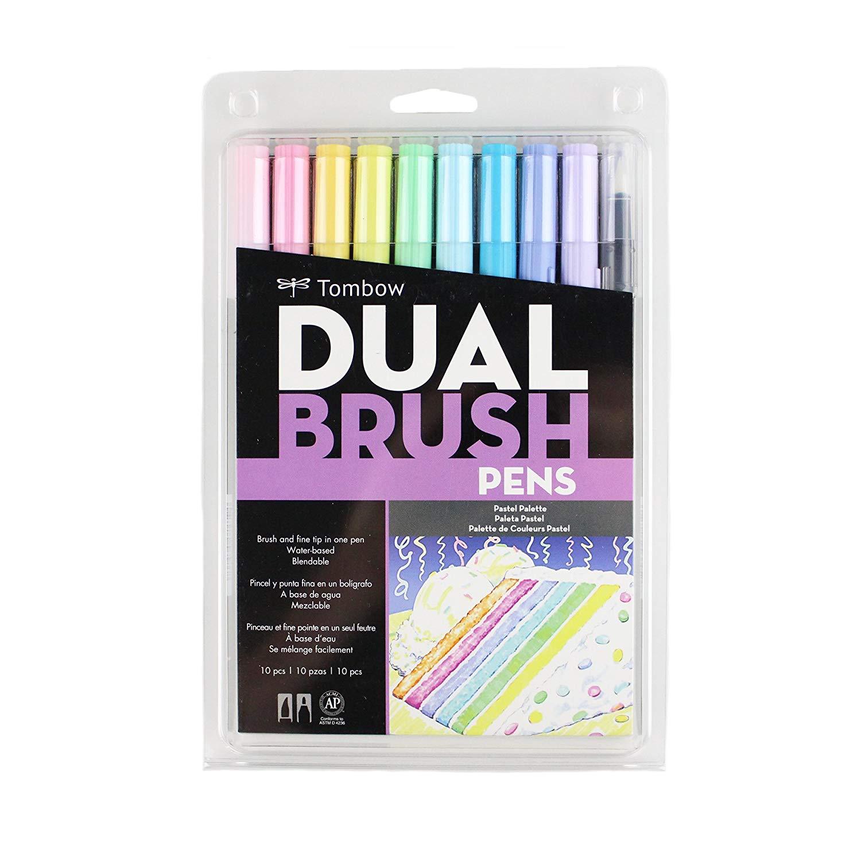 Pastel Brush Pens Tombow