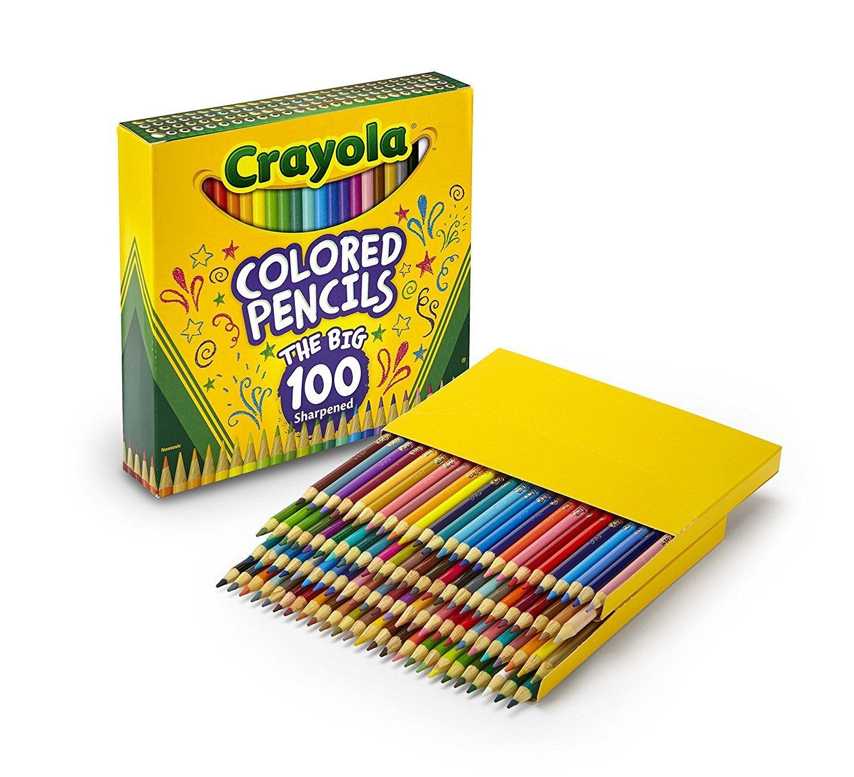 100 Crayola Colored Pencils