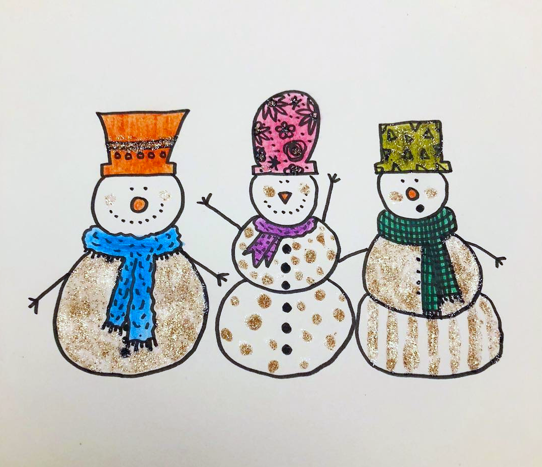 Create cute and decorative snowmen!