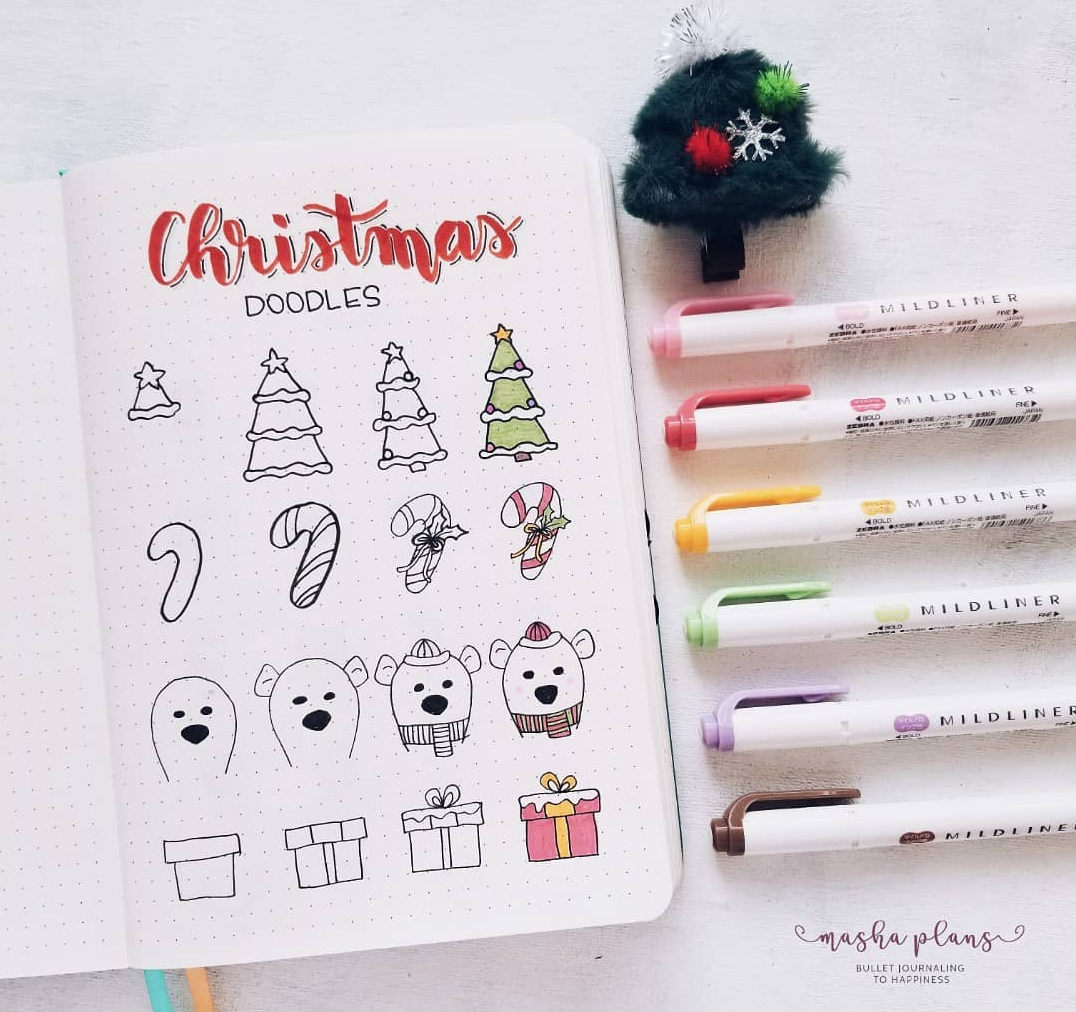 Cute Christmas Doodles You Can Draw