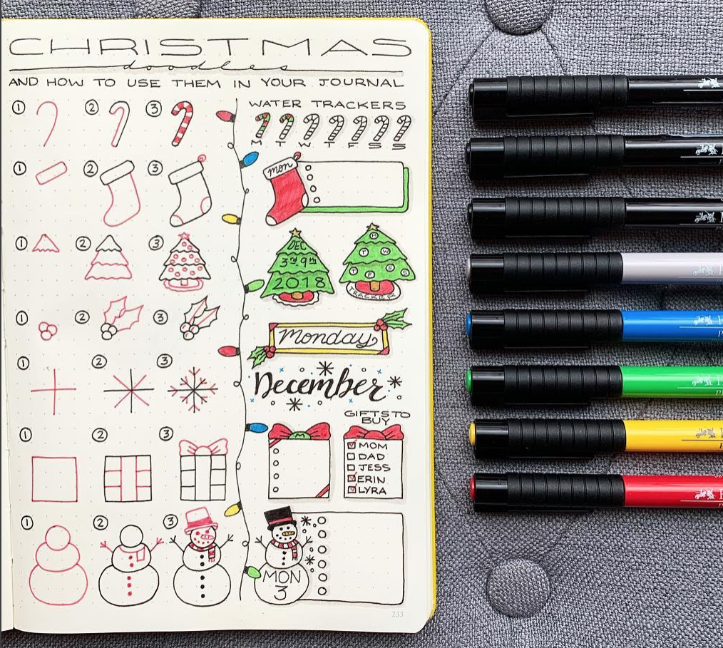 Holiday doodles