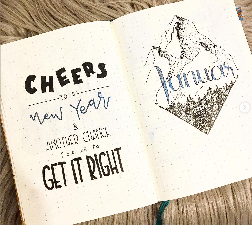 Bullet Journal Ideas for January