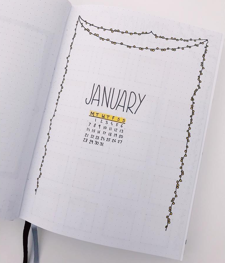 Minimalist January Cover Page