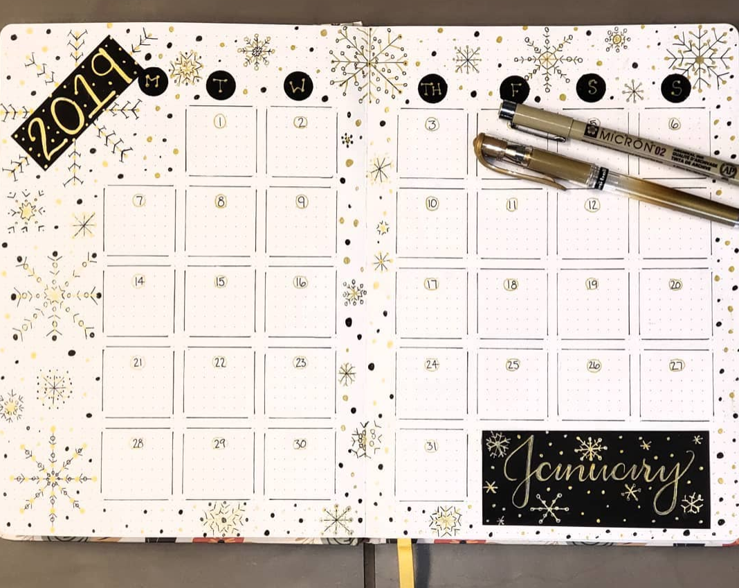 Bullet Jouranl January Pages
