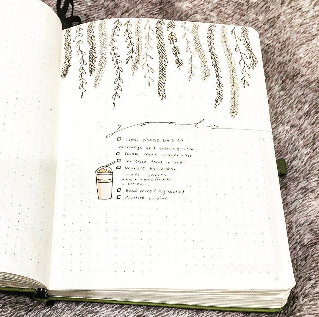 Set Goals in A Bullet Journal