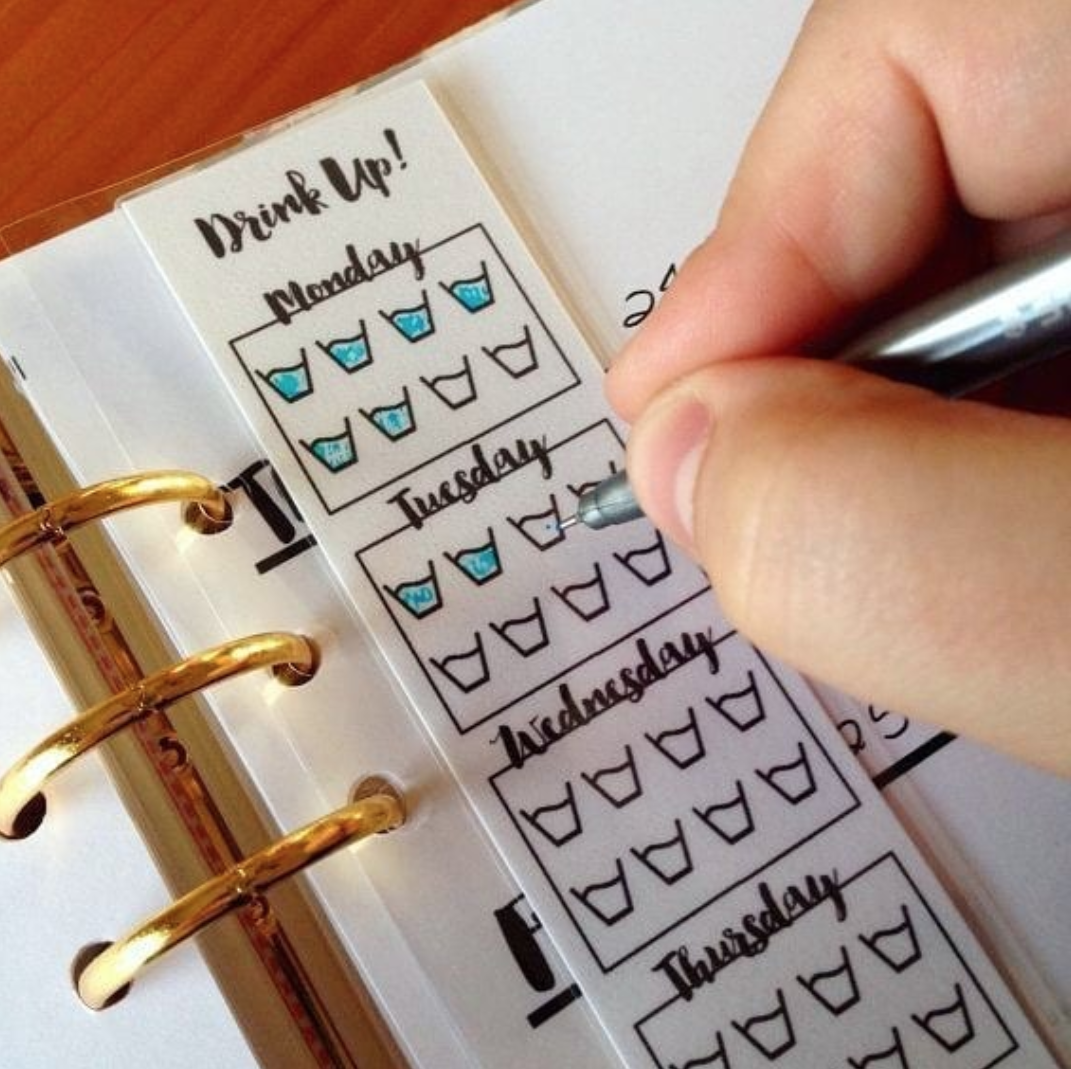 Track water in your bujo!