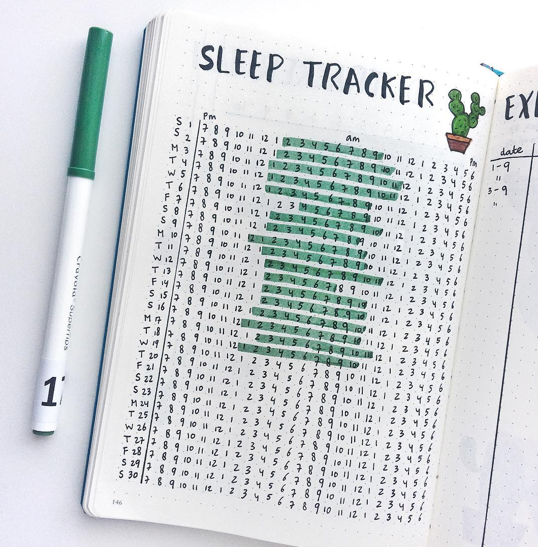 photo relating to Sleep Log Printable referred to as Bullet Magazine Snooze Tracker Cute PlanIt