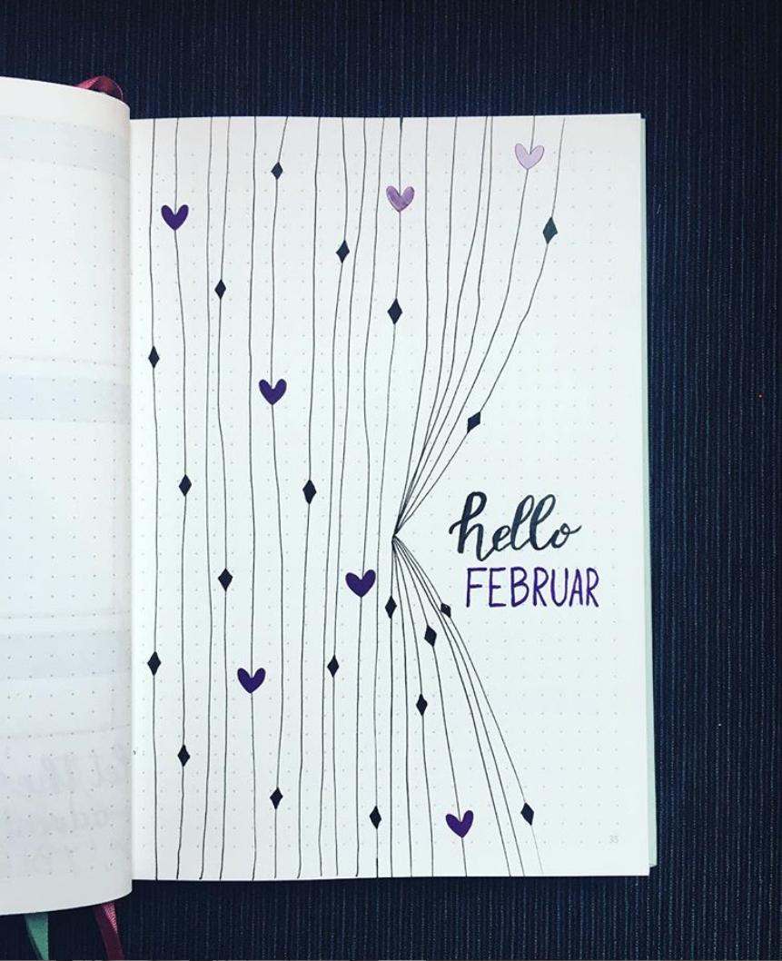 Bullet Journal Spreads for February
