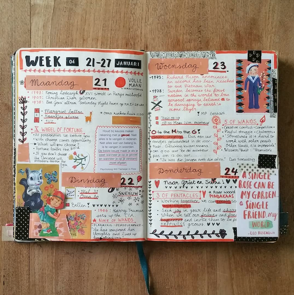 How to Layout Your Bullet Journal Weekly Spreads