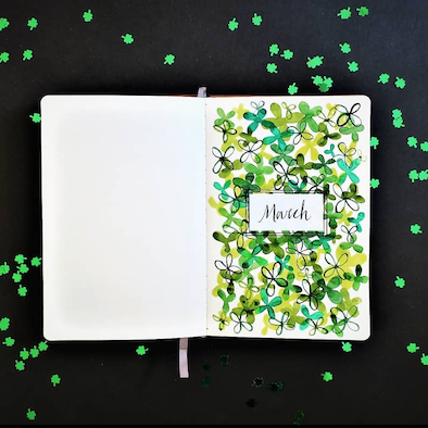 March Page Spread Ideas for Bullet Journaling