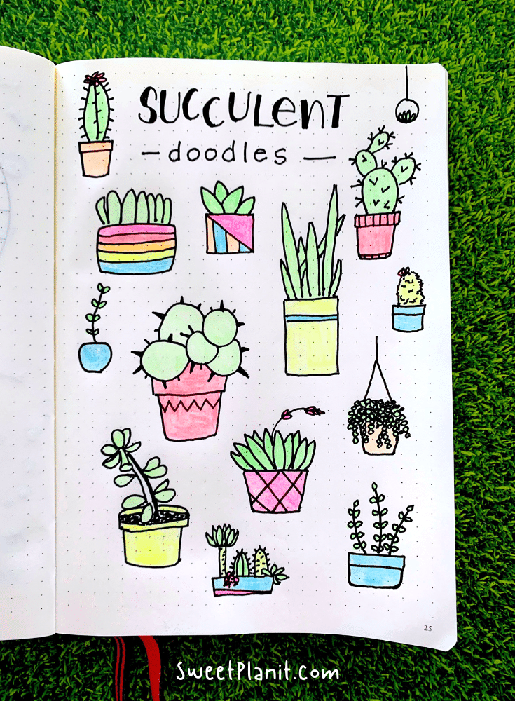 How to Draw Succulents - Tons of Cute and Easy to Doodle Ideas!