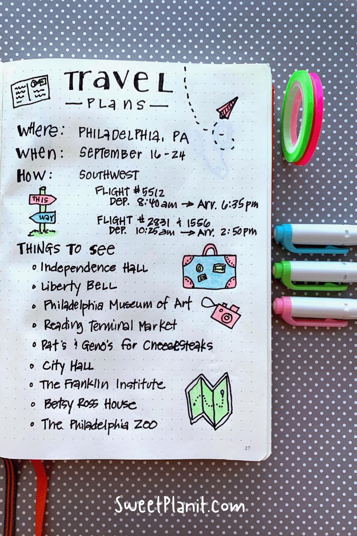 How to Use a Bullet Journal for Travel Planning