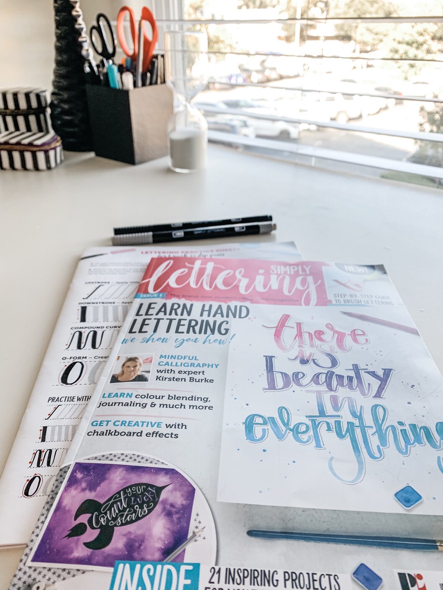 Simply Lettering Magazine and Free Goodies - I can't wait to practice all the hand lettering and calligraphy techniques inside!
