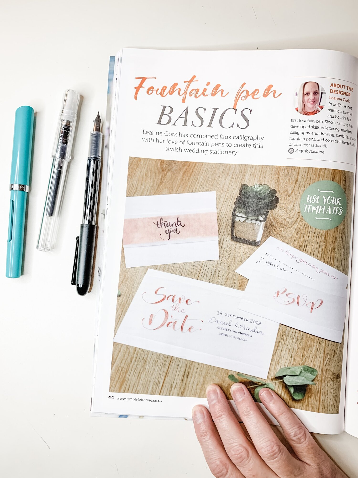 Learn Fountain Pen Basics with Simply Lettering Magazine!