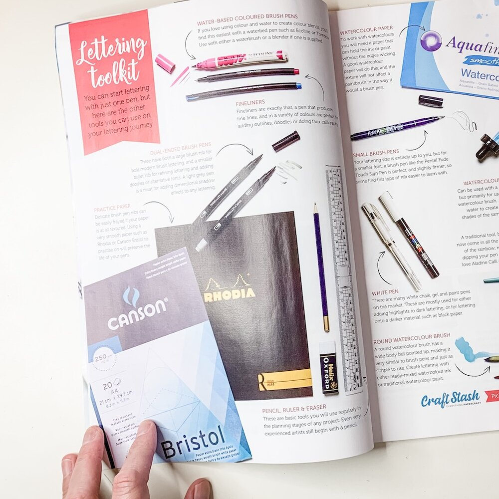 Lettering Toolkit Pages of Simply Lettering Magazine
