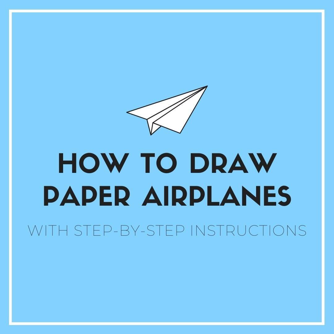 cute airplane drawing easy