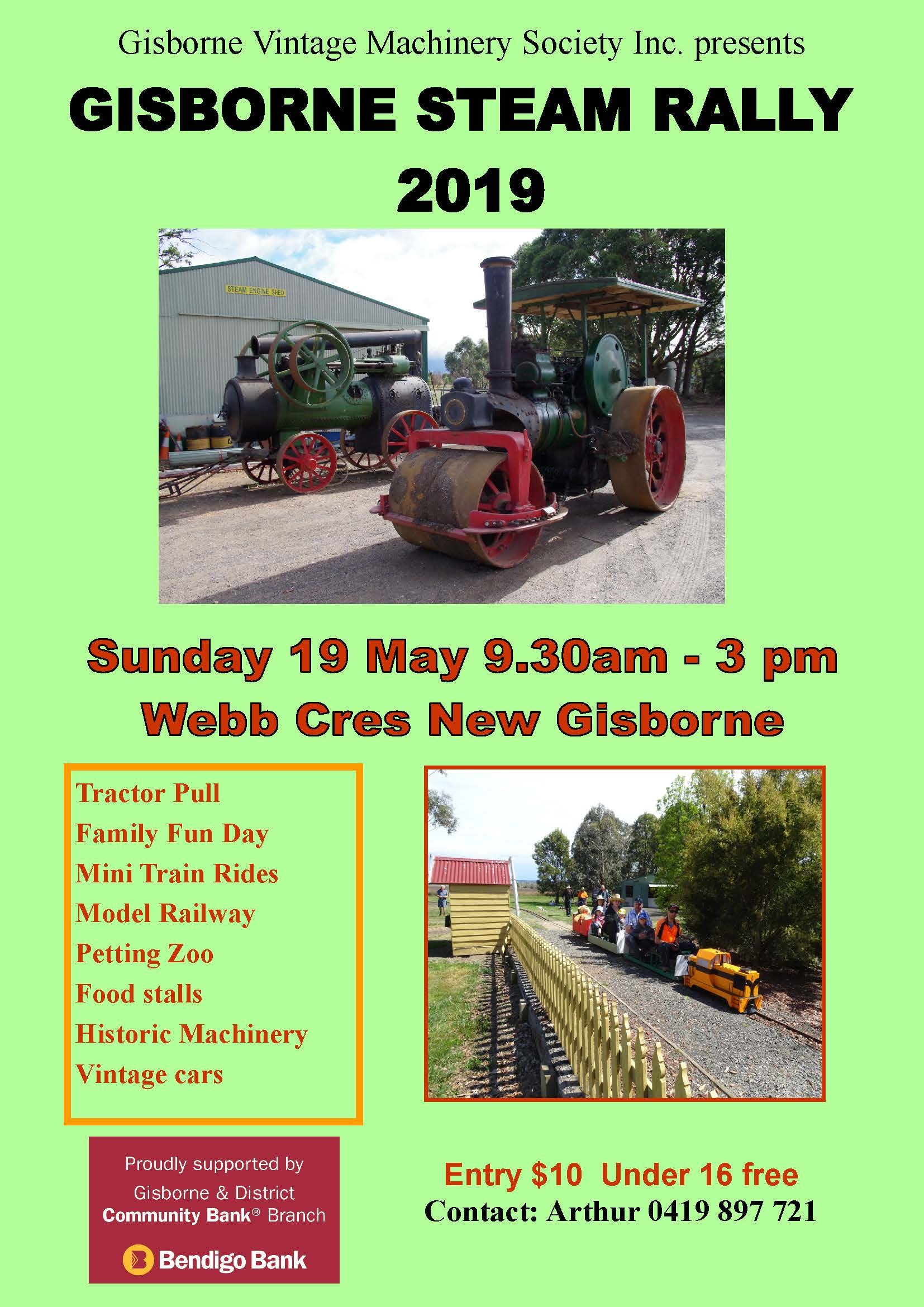 Gisborne Steam Rally 2019 — AOMC