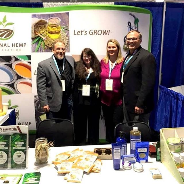 Craig and Laura Litwin saying hello to the great folks at the National Hemp Association while attending @cwcbexpo #Boston. 🌿 #industrial #sustainable #hemp #hemphemphooray #cwcbexpoboston #cwcbexpo #cwcb #nextbigthing #cannabusiness #cannabiz #cannabismeansbusiness