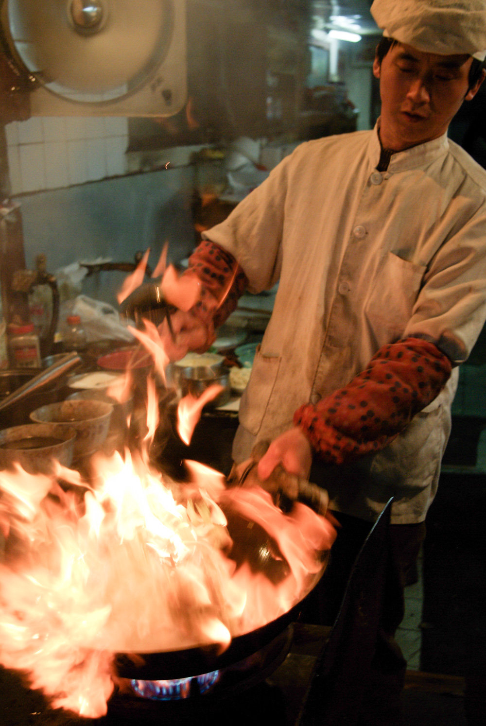 Like cooking with dynamite: street food kitchens in Asia.