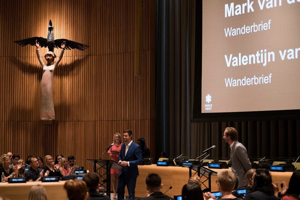 The Backpacker Intern speaking at the United Nations.