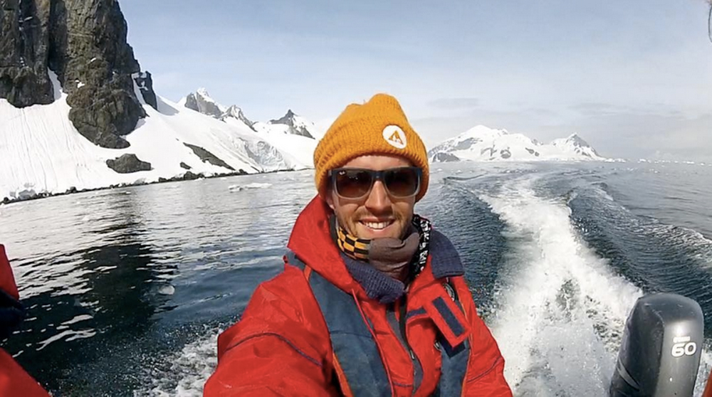 Remote work from Antarctica.