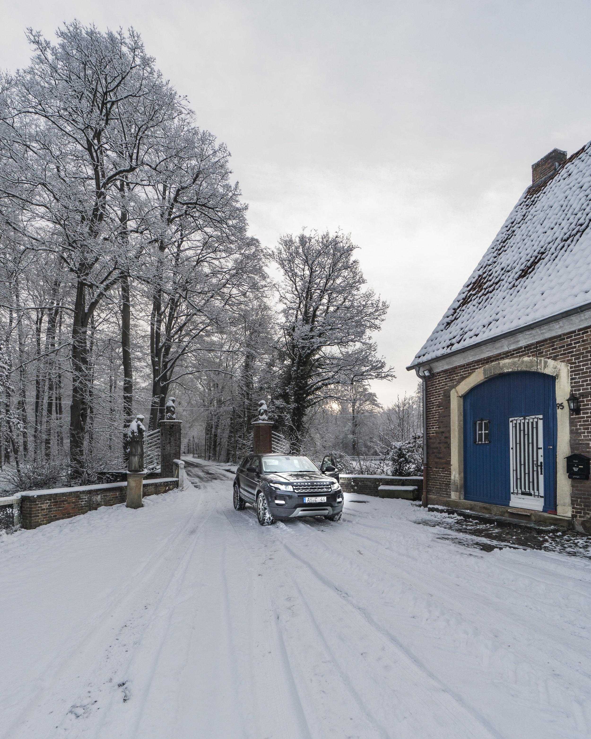 Winter wunderland im hof von Haus Egelborg