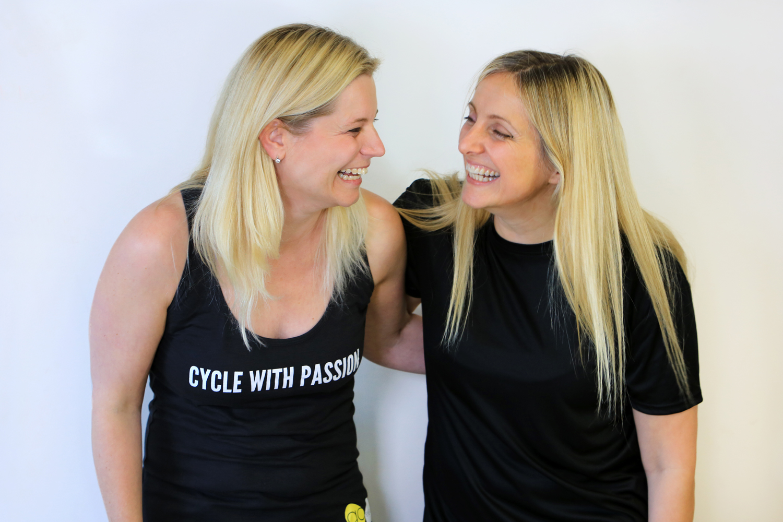 Suzie thomas and Sophie Bickerdike founders Go Revolution Indoor Cycling studio