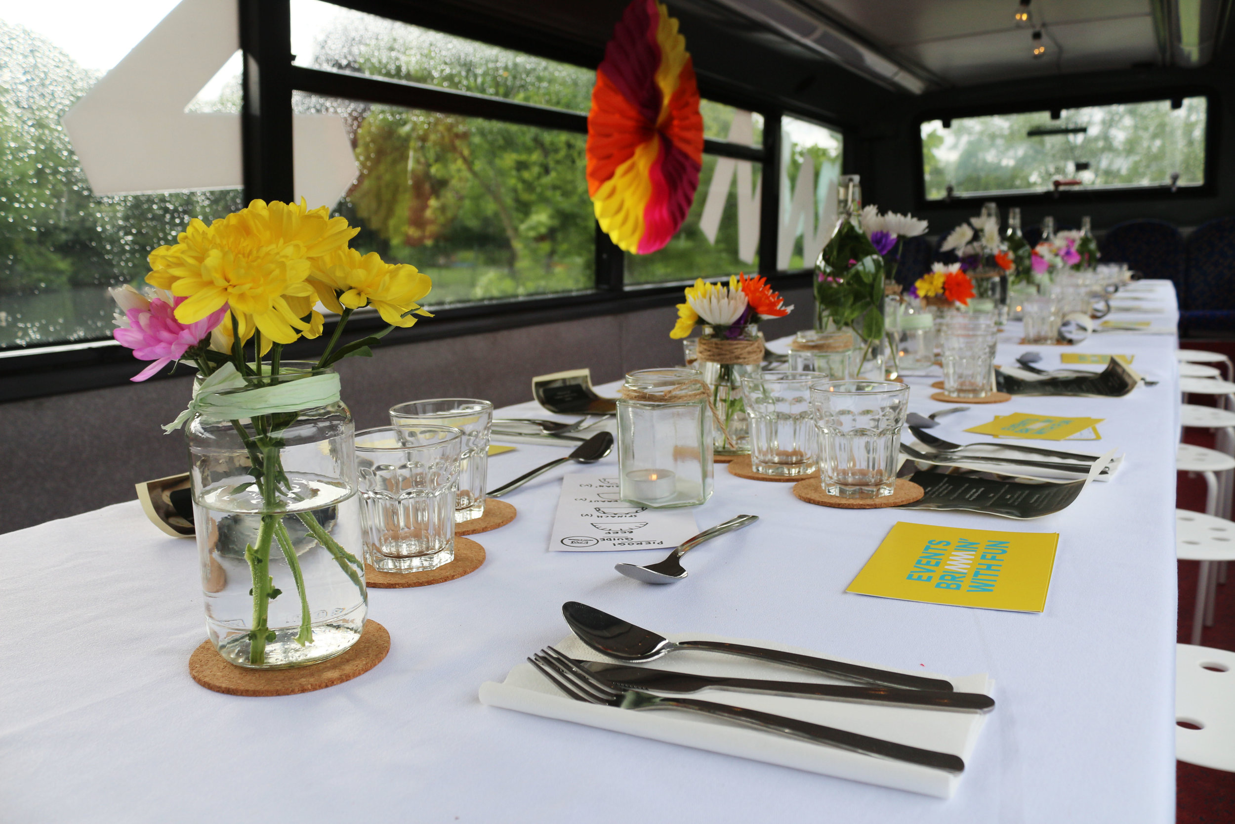 If you are interested in hosting dinner on the bus for your own private event, drop us a line - hello@commonplaceevents.com