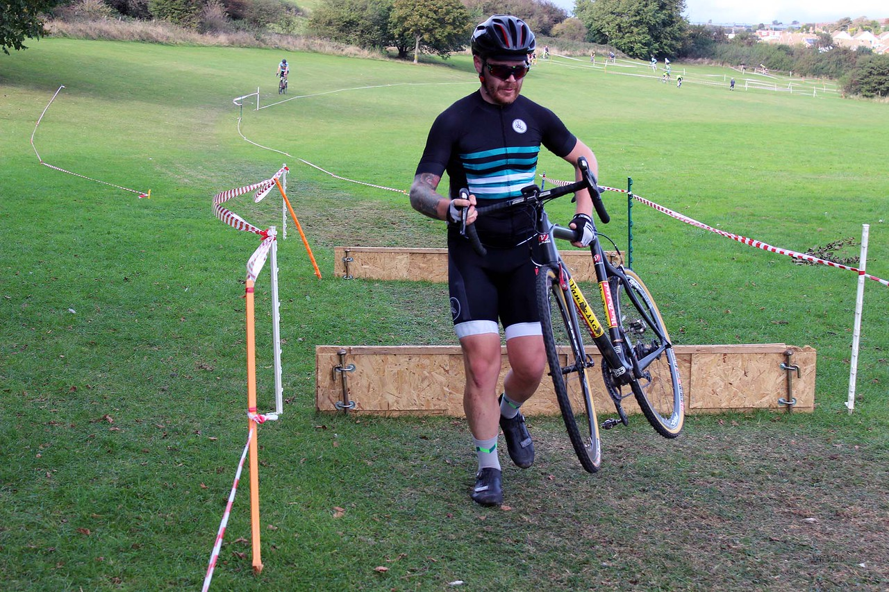 Take it easy on those hurdles. Too often you see some nasty crashes here