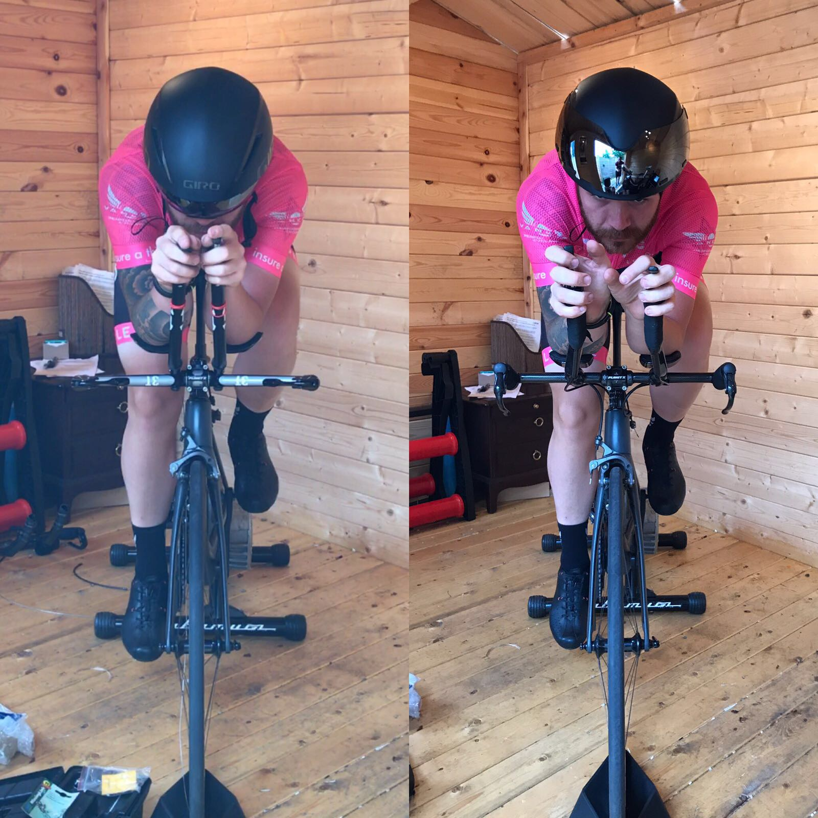 The left image (visor on) is the new ammended position.