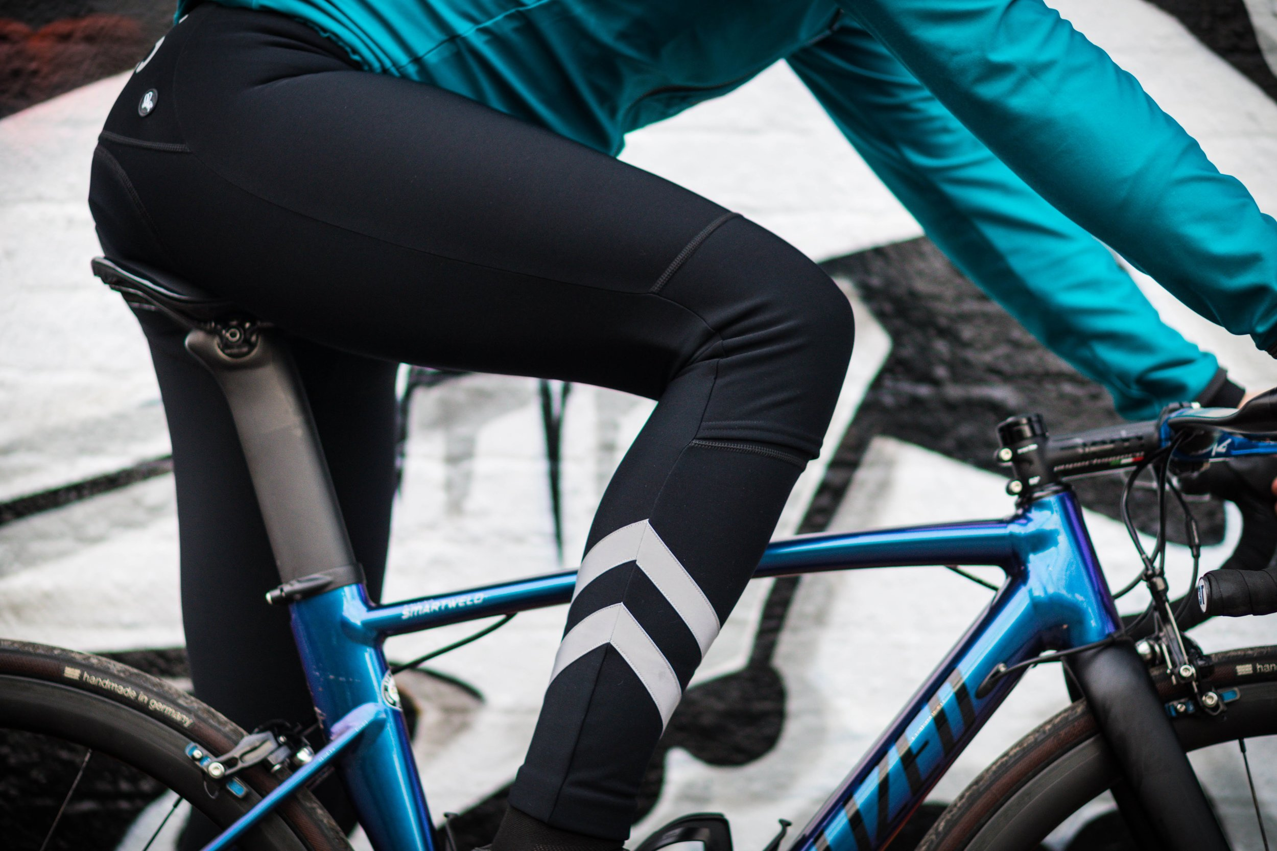 The Attacus thermal bib tights paired with the with the cold weather jacket