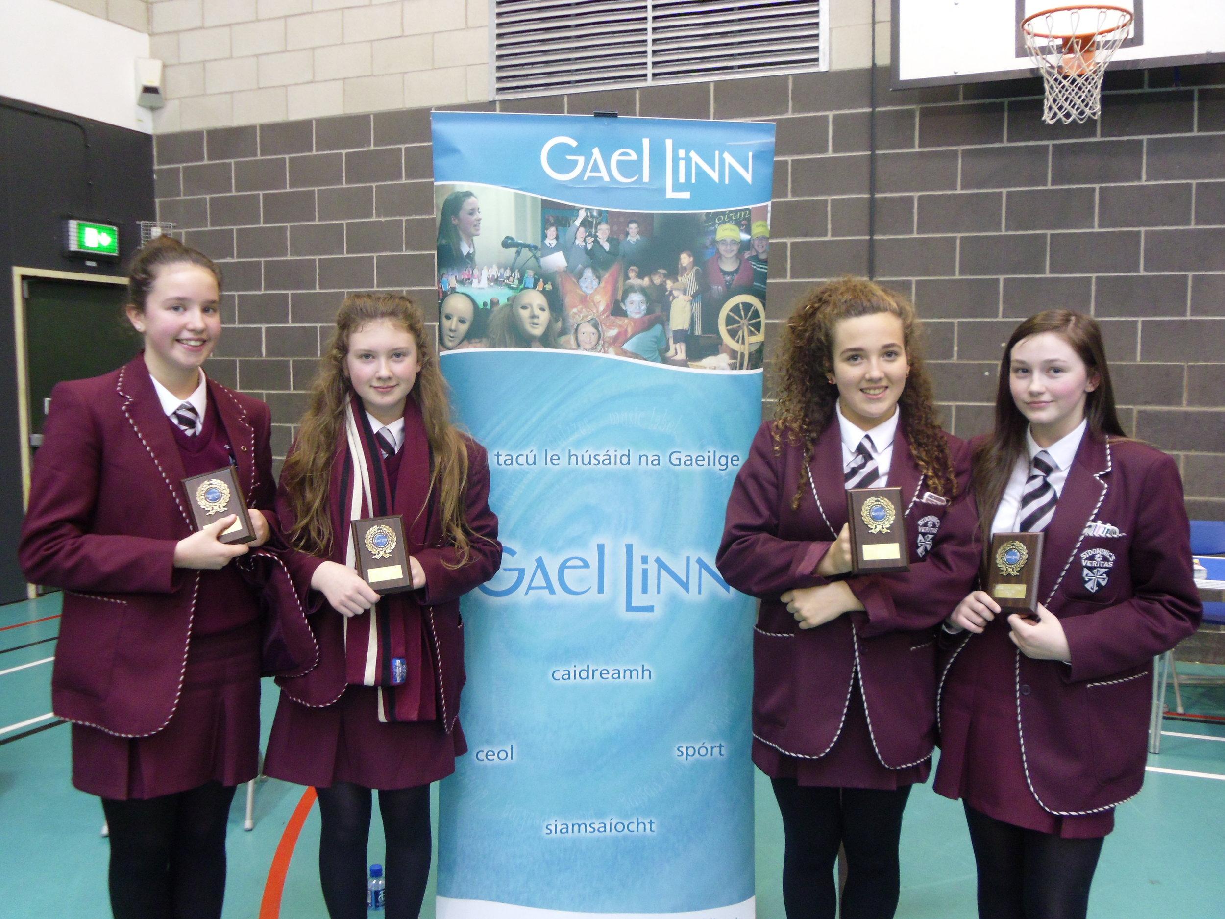Gael Linn Language Quiz Winners