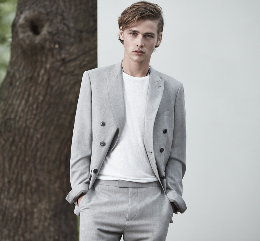 Lidder B double breasted blazer , £325  Lidder T wool tailored trousers , £145  Ghost nep t-shirt , £35