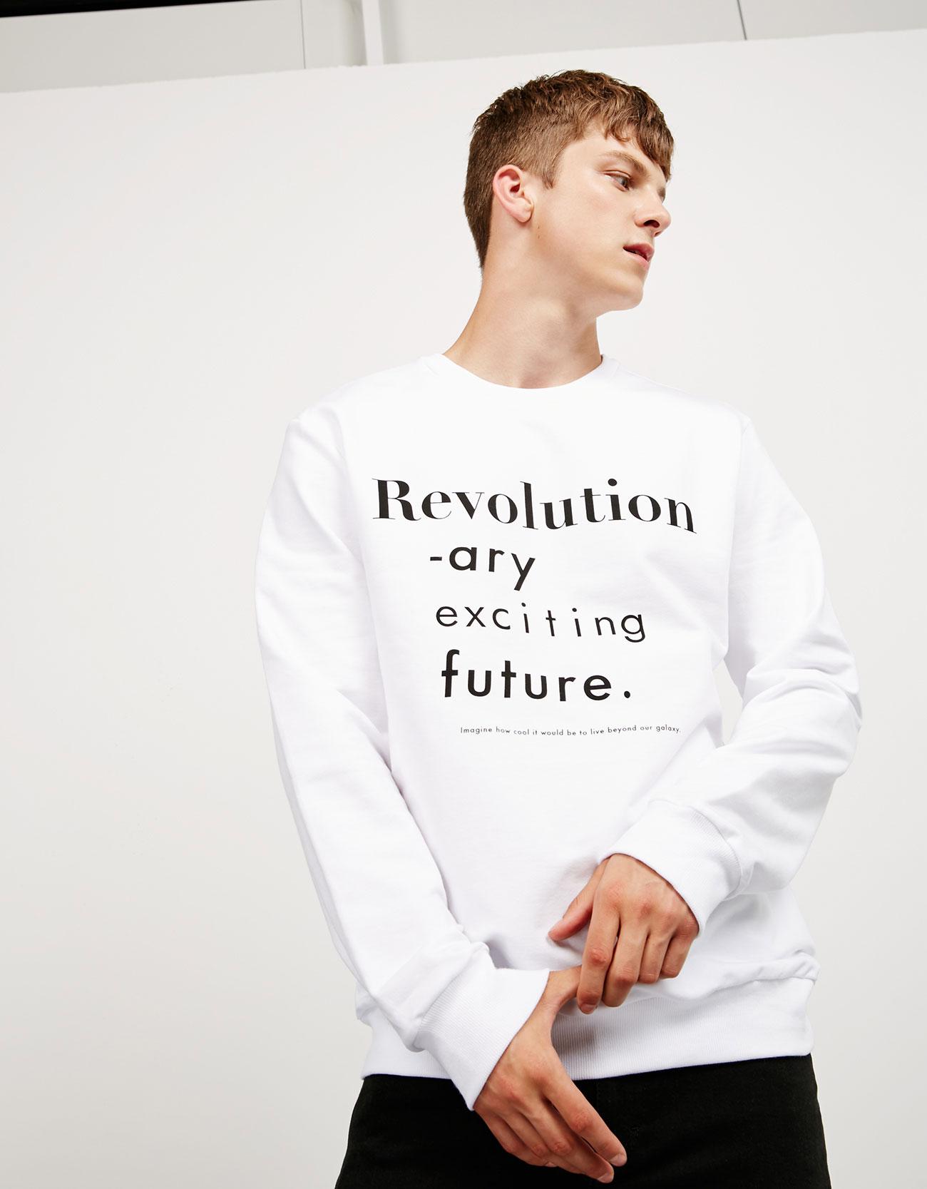 """Revolution"" text sweater , £19.99"