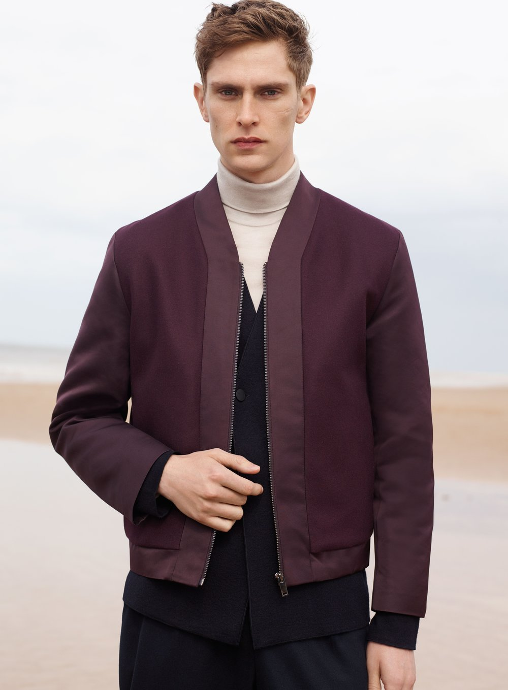 Double-breasted wool cardigan , £89