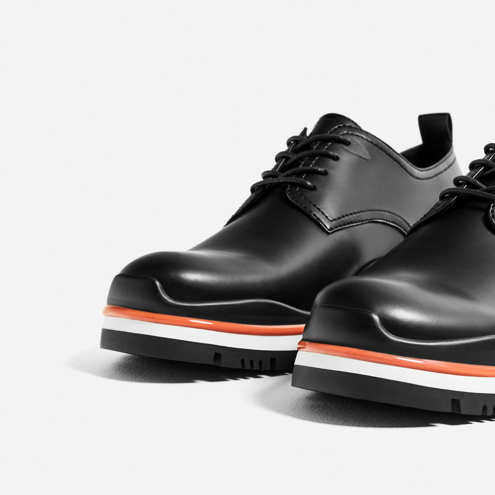 Tricolour sole black bluchers, £59.99 ( zara.com )