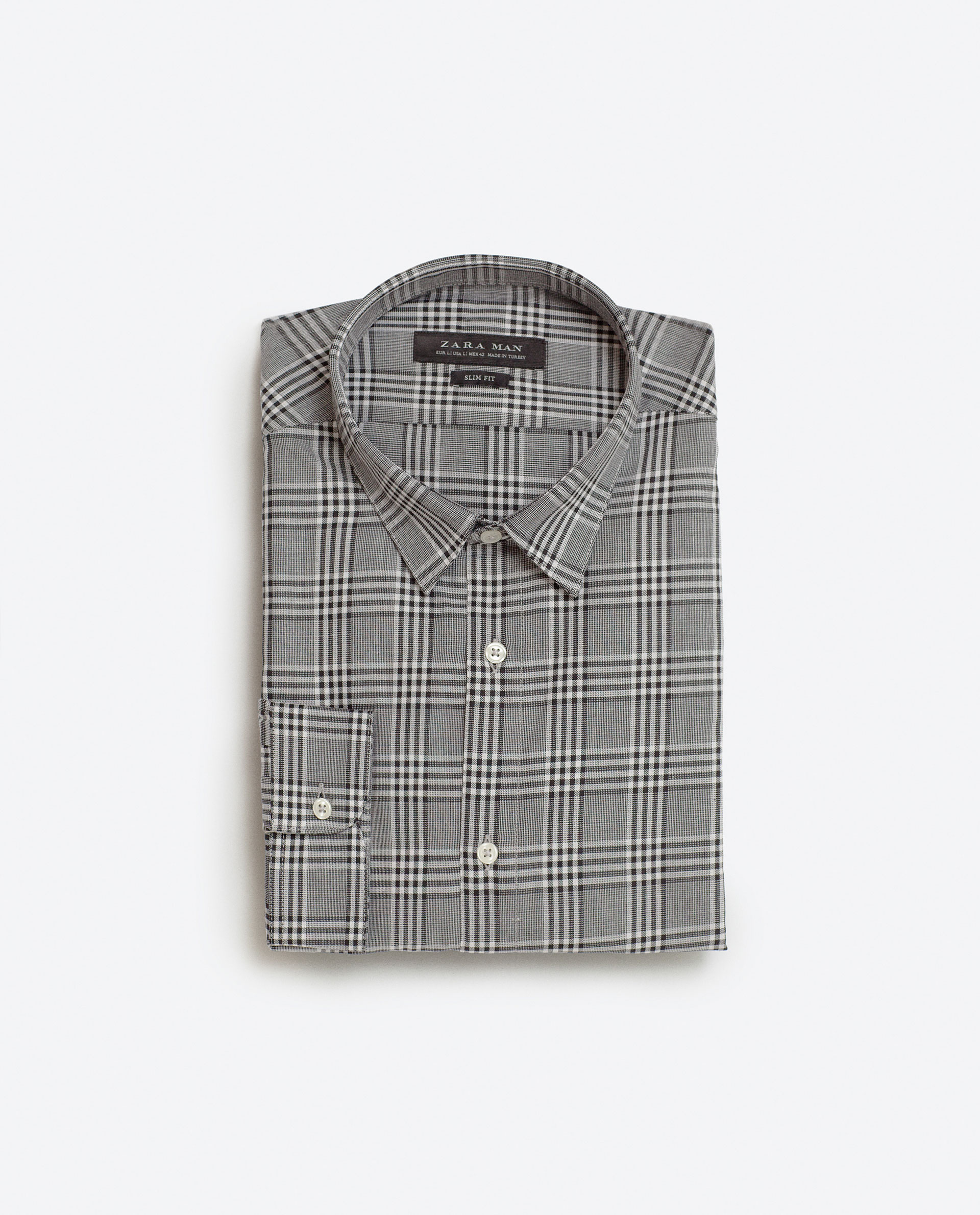 Checked mélange shirt, £25.99 ( zara.com )