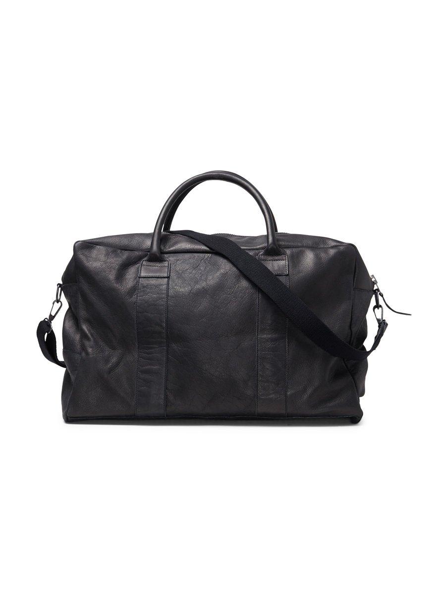 Durable leather weekend bag, £165 ( jackjones.com )
