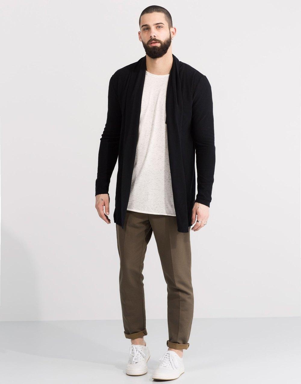 Long plush jacket, £17.99 ( pullandbear.com )