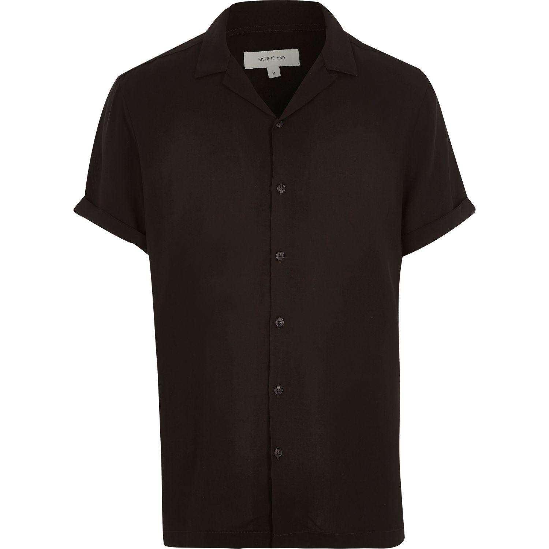 Revere-collar short-sleeve shirt, £25 ( riverisland.com )