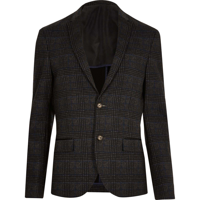Checked skinny cropped blazer, £60 ( riverisland.com )
