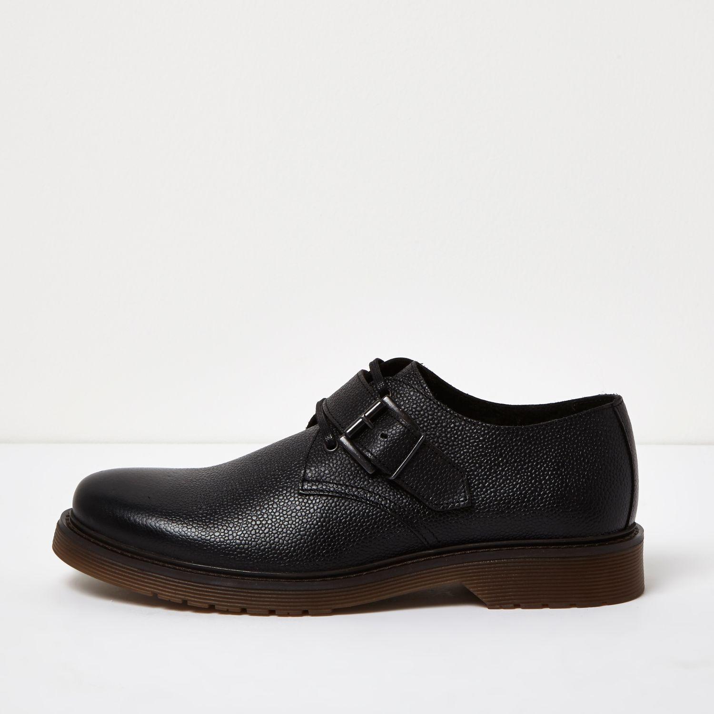 Leather monkstrap shoes, £55 ( riverisland.com )